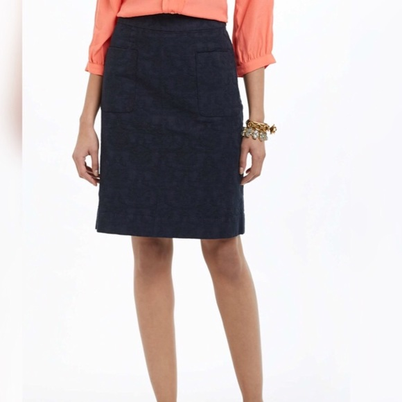 1f00a60d3 Anthropologie Skirts | Moulinette Soeurs Navy Brocade Skirt | Poshmark